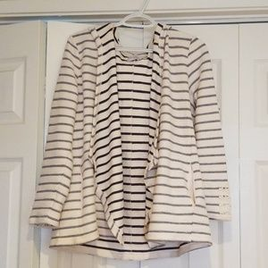 Dress Barn striped cartigan